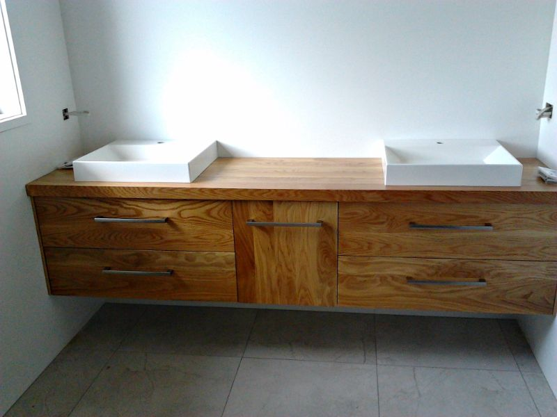 Custom made bathroom vanity