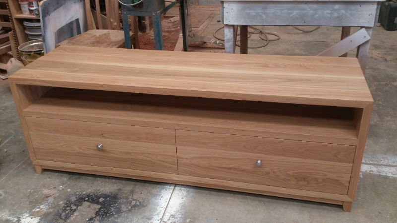 natural oak tv unit