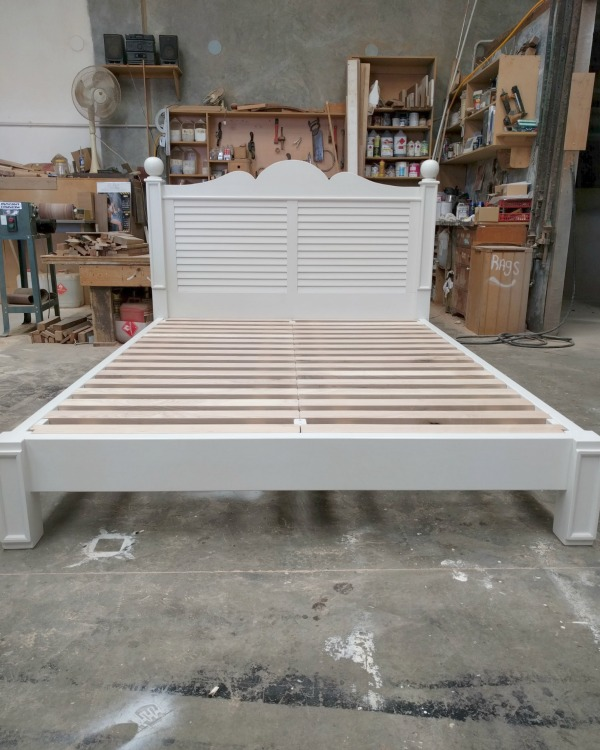 paint finish bed