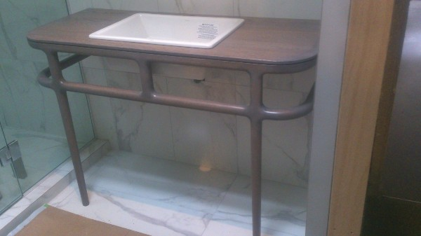 Grey washed vanity