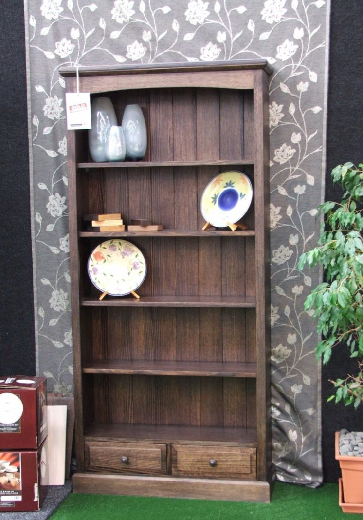stained vic ash bookcase